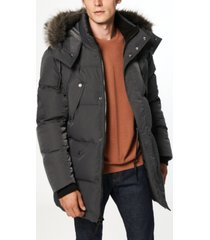 orion men's matte shell parka coat