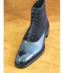 handmade brogue black leather boots dress casual latest formal ankle boots