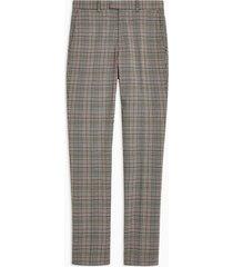 mens grey gray super skinny fit check suit pants