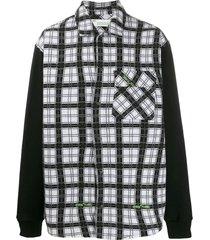 plaid paneled shirt