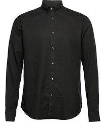 haldo slim shirt overhemd casual zwart oscar jacobson