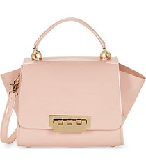 eartha winged patent leather shoulder bag