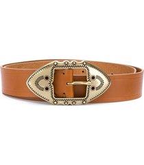 isabel marant western buckle belt - brown