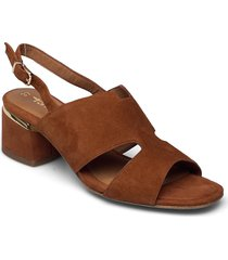 woms sandals shoes heels pumps sling backs brun tamaris