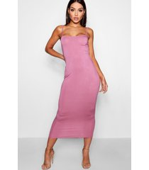 jersey square neck midaxi dress, rose