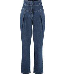 alberta ferretti high-rise carrot-fit jeans