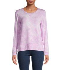 workshop women's tie-dye print sweatshirt - lilac tie dye - size xl