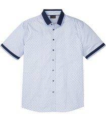 camicia a maniche corte con colletto in maglia (bianco) - bpc selection
