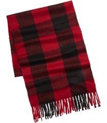 alfani men's buffalo plaid scarf, created for macy's