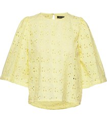 ira blouses short-sleeved geel stella nova