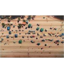 "empire art direct beach arte de legno digital print on solid wood wall art, 30"" x 45"" x 1.5"""
