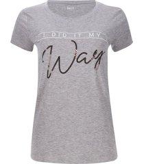 camiseta way color gris, talla l