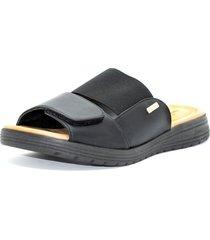 sandalia negra comfortflex
