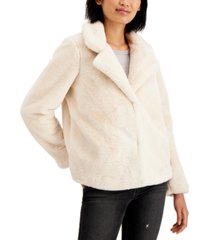jou jou juniors' notch-collar faux-fur jacket