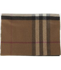 burberry cashmere scarf with check print