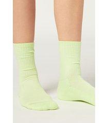 calzedonia short sport socks woman green size tu