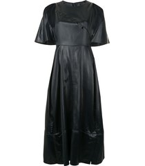 3.1 phillip lim cape midi dress - black