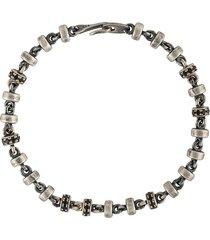 m. cohen micro stud detail bracelet - silver