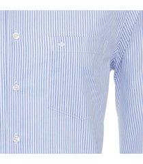 seidensticker heren overhemd lichtblauw streep ml7 borstzak modern fit