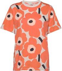 hiekka pieni unikko t-shirt t-shirts & tops short-sleeved oranje marimekko