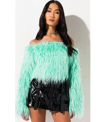 akira take your time furry off shoulder top
