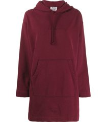 acne studios oversized hoodie dress - red