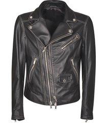 les hommes full leather perfect biker jacket