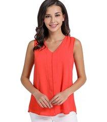 blusa simple v coral nicopoly