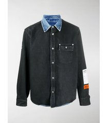 heron preston denim shirt jacket