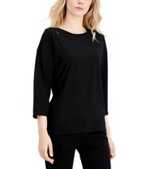alfani cut-out detail top, created for macy's
