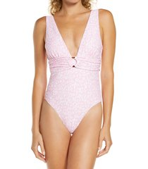 women's chelsea28 belted textured one-piece swimsuit