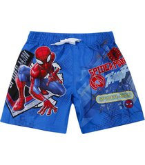 short baño azul spiderman