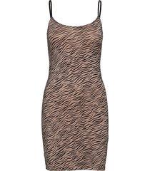 strap dress kort klänning brun rosemunde