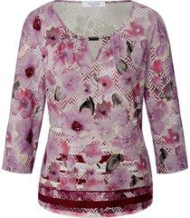 shirt ronde hals en 3/4-mouwen van mayfair by peter hahn multicolour