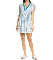 women's poupette st barth sasha cover-up minidress, size x-small - white