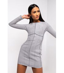akira good work long sleeve mini dress