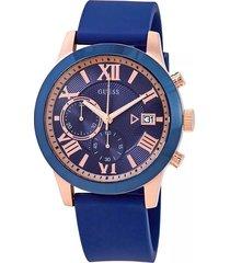 reloj guess atlas - azul marino