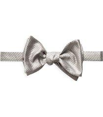 eton men's grey metallic bow tie - grey