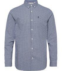 long sleeved gingham check shirt skjorta casual blå original penguin
