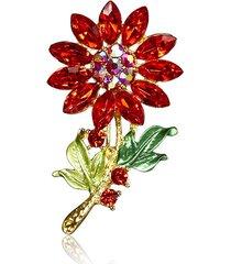 dolce colorato spilla fiore di cristallo accessori abbigliamento moda regalo per le donne