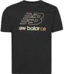 nb athletics podium tee t-shirts short-sleeved svart new balance