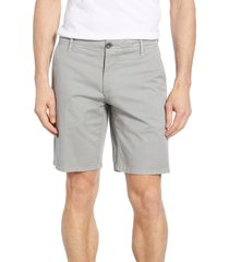 men's rodd & gunn the peaks regular fit shorts, size 40 - grey