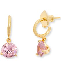 kate spade new york cubic zirconia drop earrings in pink/gold at nordstrom