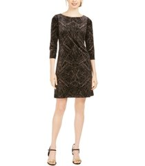 jessica howard glitter-velvet shift dress