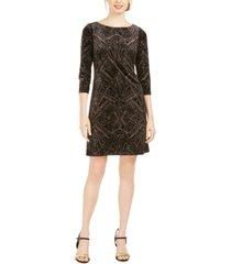 jessica howard glitter-velvet shift dress