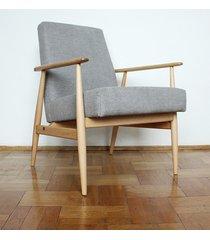 fotel lisek, fotel 300-190, bukowy, prl