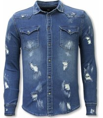 diele & co denim shirt blauw