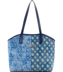 cartera new age tote den denim guess