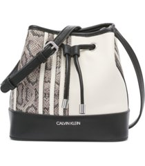 calvin klein gabrianna mini bucket bag