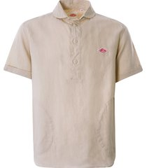 danton linen pullover shirt   beige   jd-3569